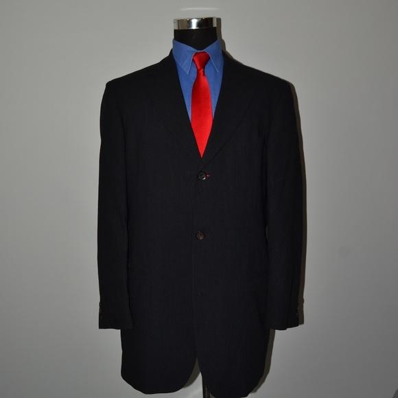 Hugo Boss Other - Hugo Boss 42L Sport Coat Blazer Suit Jacket Black